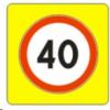 Круглые знаки на щите 900х900 мм