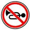 3.26 Подача звукового сигнала запрещена